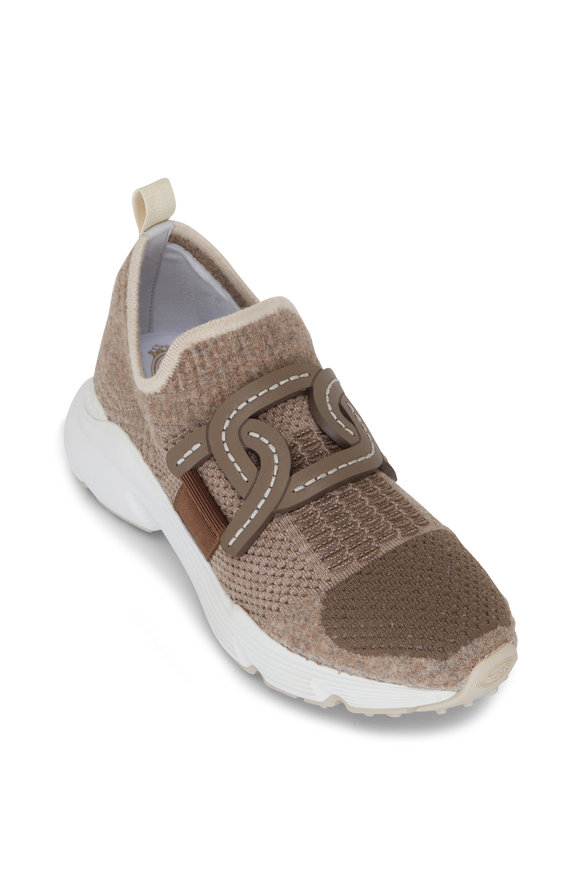 Tod's Kate Taupe Multi Knit Runner