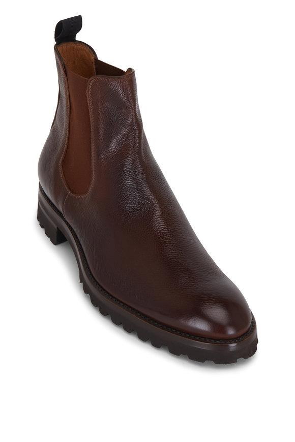 Gravati Ravello Medium Brown Leather Chelsea Boot