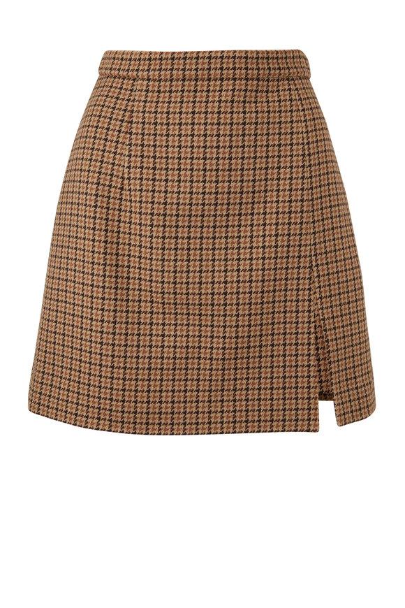 Michael Kors Collection Barley Wool A-Line Mini Skirt