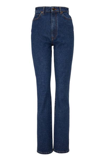 Khaite - Daria Montgomery Stretch Straight Leg Jean