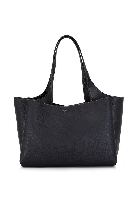 Tod's Manici Black Pebble Leather Shoulder Bag