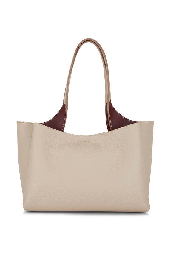 Tod's Manici Taupe Pebble Leather Shoulder Bag