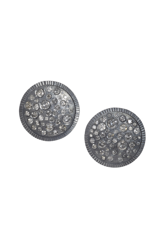 Sterling Silver Brilliant White Diamond Earrings