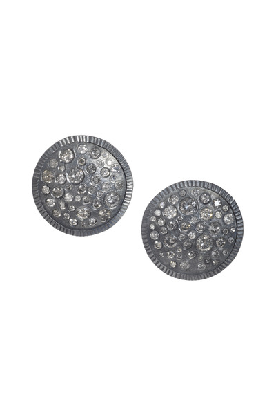 Todd Reed - Sterling Silver Brilliant White Diamond Earrings