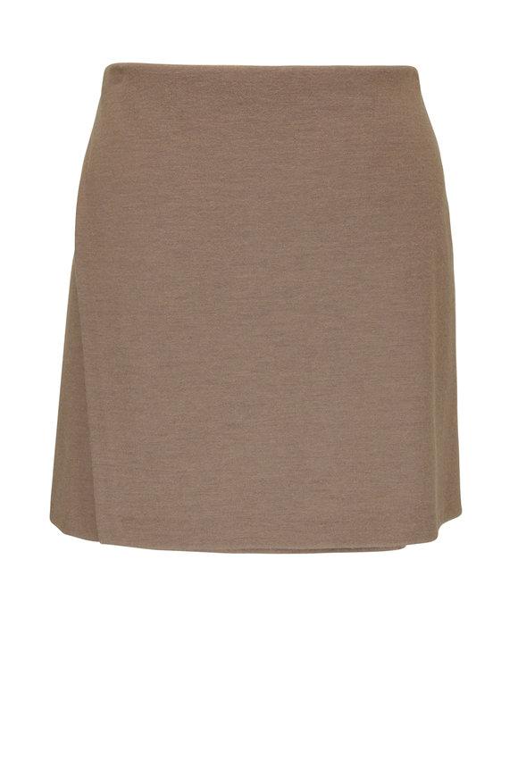 Vince Birch Stretch Wool Asymmetric Paneled Skirt