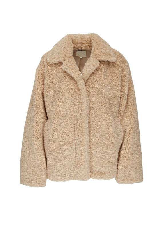 Vince Light Fauna Textured Faux Fur Jacket