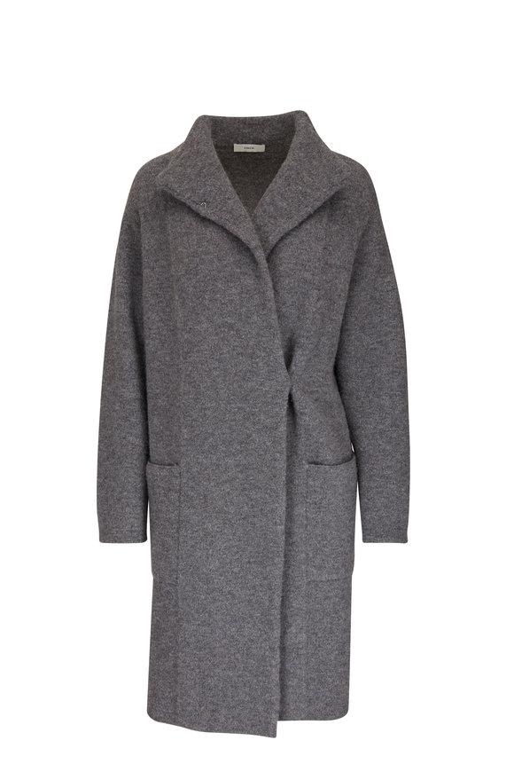 Vince Light Heather Gray Clean Edge Cardigan Coat