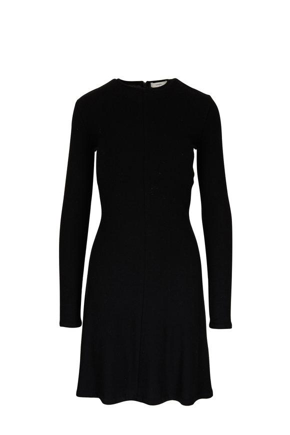 Vince Black Long Sleeve Crewneck Dress