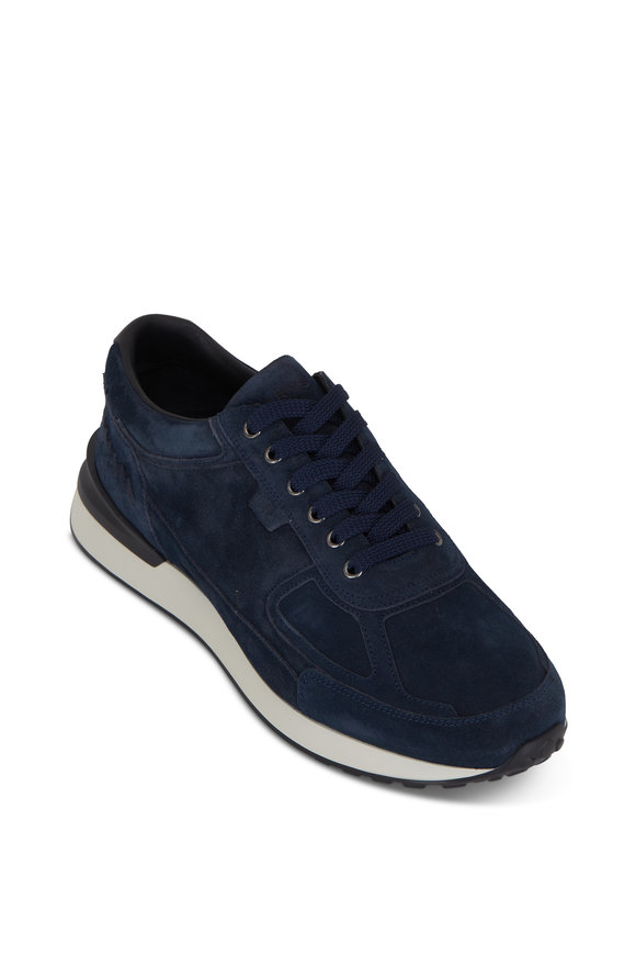 Harrys of London Ethan Midnight Suede Sneaker