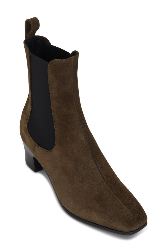 Pierre Hardy Melody Khaki Suede Chelsea Boot, 60mm
