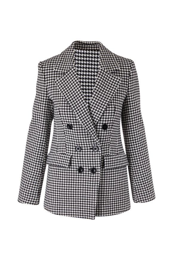 Dorothee Schumacher Graphic Softness Black & White Check Wool Jacket