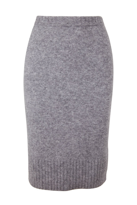 Dorothee Schumacher Soft Flash Gray Knit Skirt