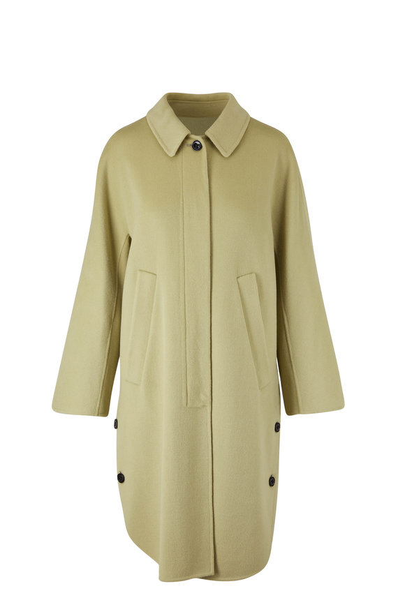 Dorothee Schumacher Slouchy Ease Pea Green Coat