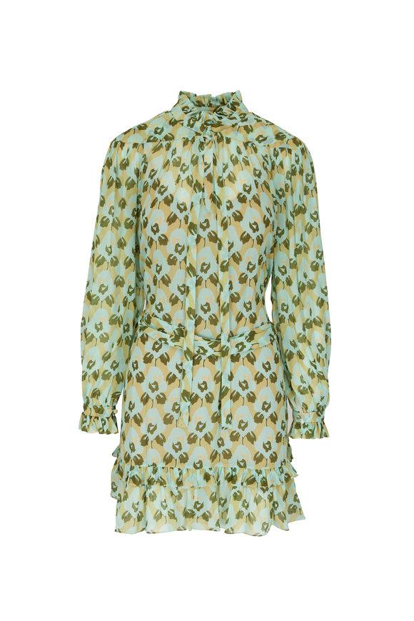 Dorothee Schumacher Flower Patch Multi Long Sleeve Dress