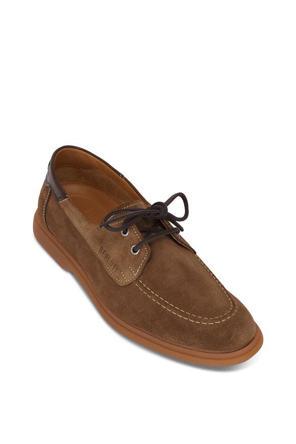 Berluti Latitude Taupe Suede Boat Shoe