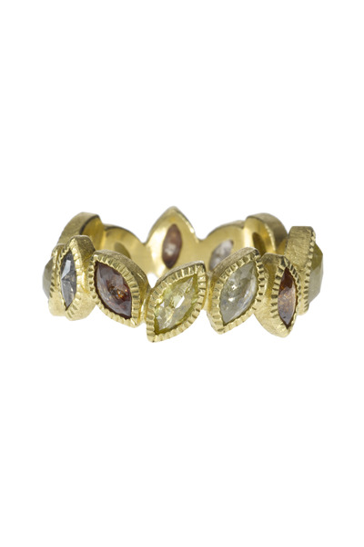 Todd Reed - Gold Marquise-Cut Gemstone Ring