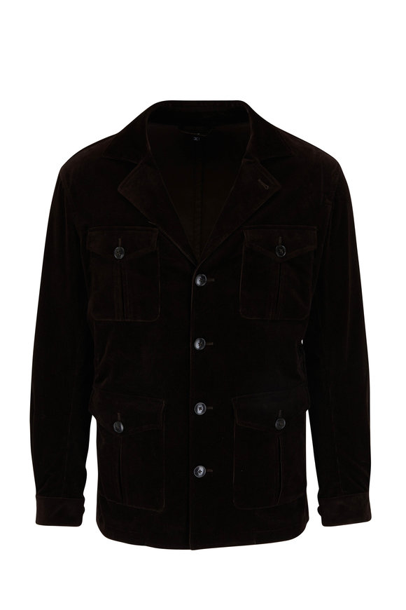 Atelier Munro Brown Corduroy Safari Jacket