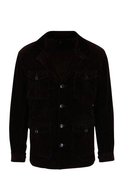 Atelier Munro - Brown Corduroy Safari Jacket