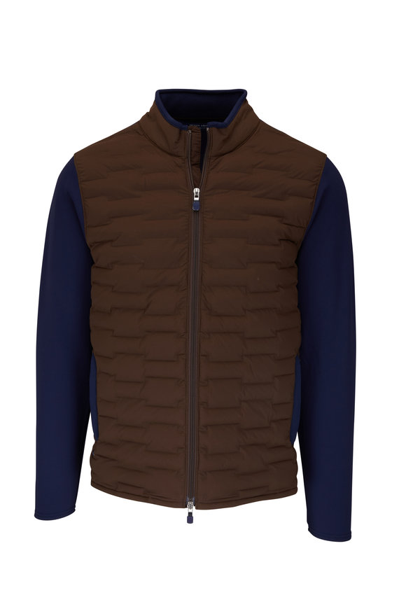 Peter Millar Brown Blaze Hybrid Cardigan
