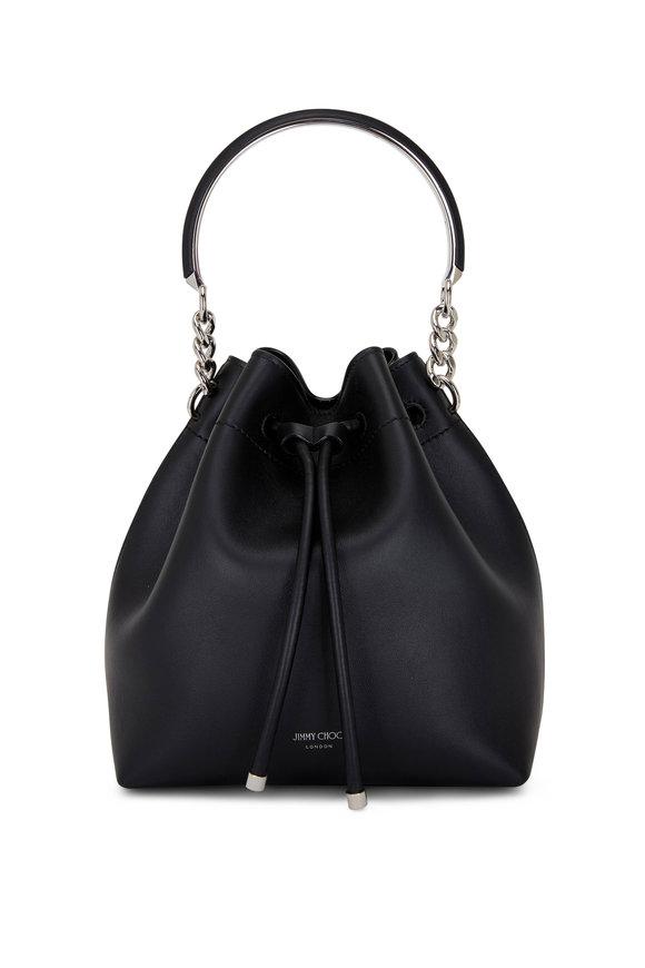 Jimmy Choo Bon Bon Black Leather Bucket Bag