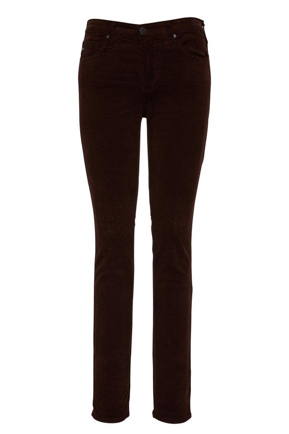 AG Prima Brown Corduroy Cigarette Leg Jean