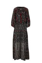 Sachin + Babi - Dalton Black Swirl Printed Long Dress