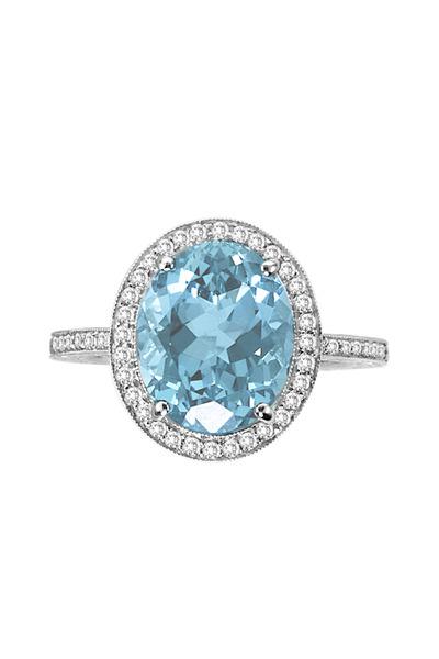 Penny Preville - Aqua Diamond White Gold Ring