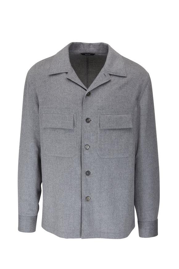 Ermenegildo Zegna Pearl Gray Cashmere Overshirt