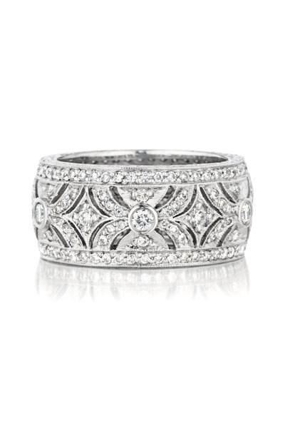 Penny Preville - White Gold Pave Diamond Ring