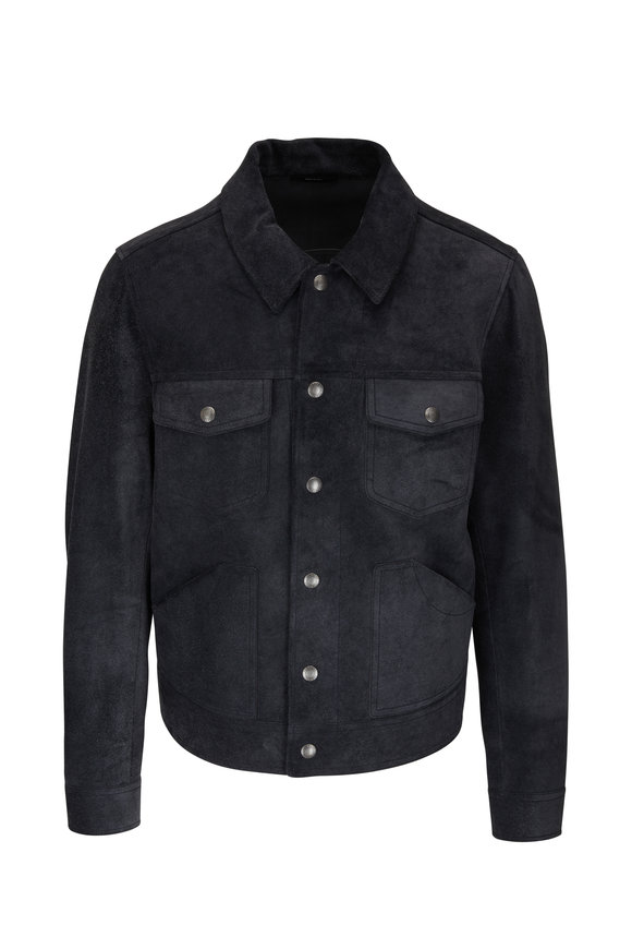 Tom Ford Charcoal Brushed Suede Jacket