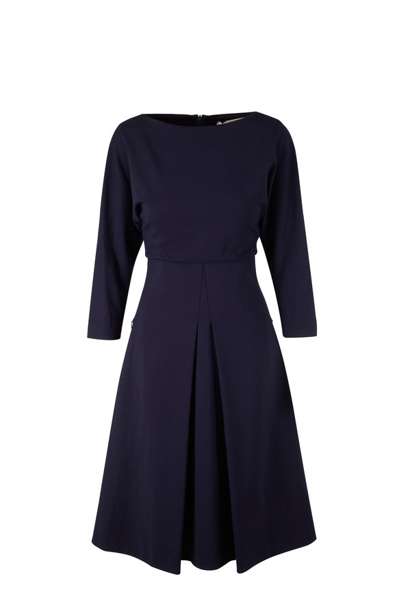 Dorothee Schumacher Emotional Essence Navy Midi Dress