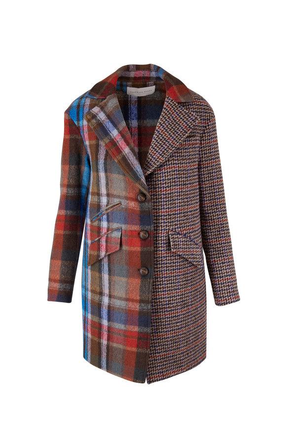 Veronica Beard Indi Multi Wool Dickey Coat