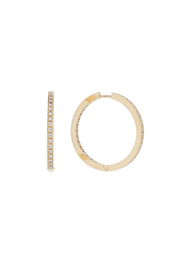 Kathleen Dughi 18K Yellow Gold Diamond Hoops
