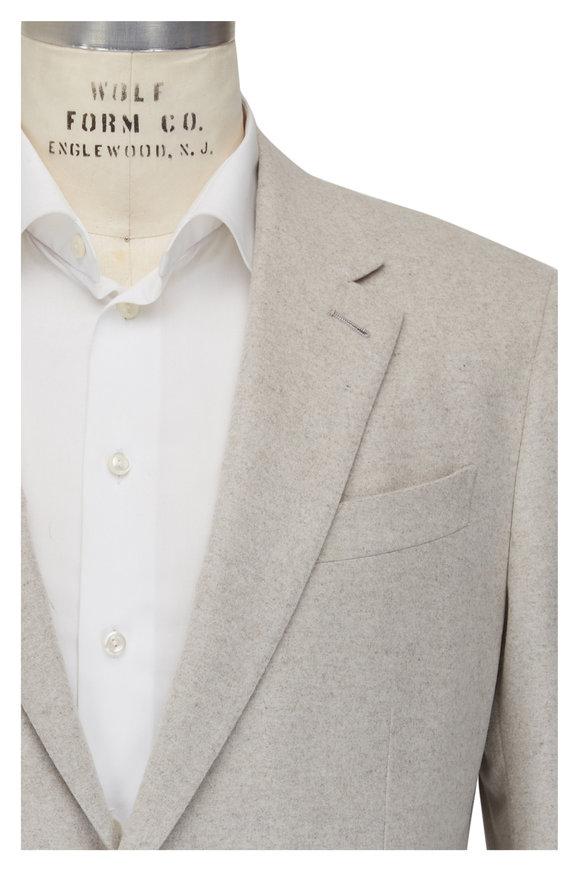Ermenegildo Zegna Off White Cream Cashmere Blend Sportcoat