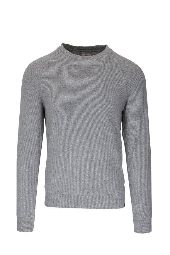 Faherty Brand Legend Gray Twill Crewneck Sweater