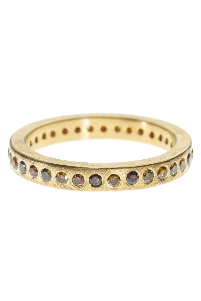 Brown Diamond Gold Band