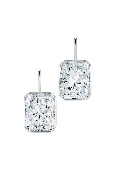 Kwiat - Platinum White Diamond Earrings