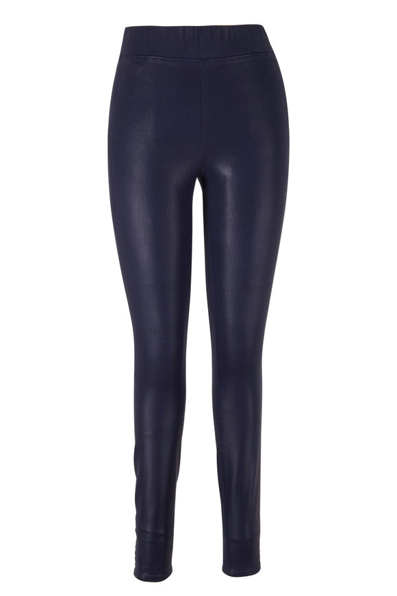 L'Agence Rochelle Navy Coated Pull-On Pant