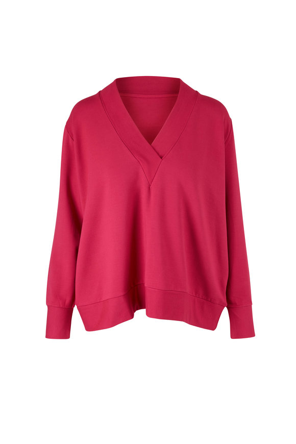 Majestic Pink French Terry Long Sleeve Top