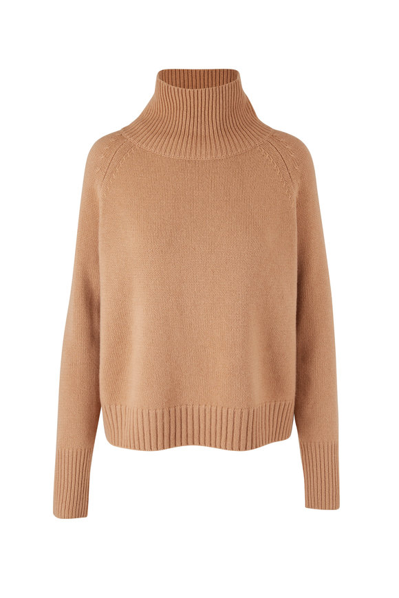 Nili Lotan Lanie Camel Cashmere Sweater