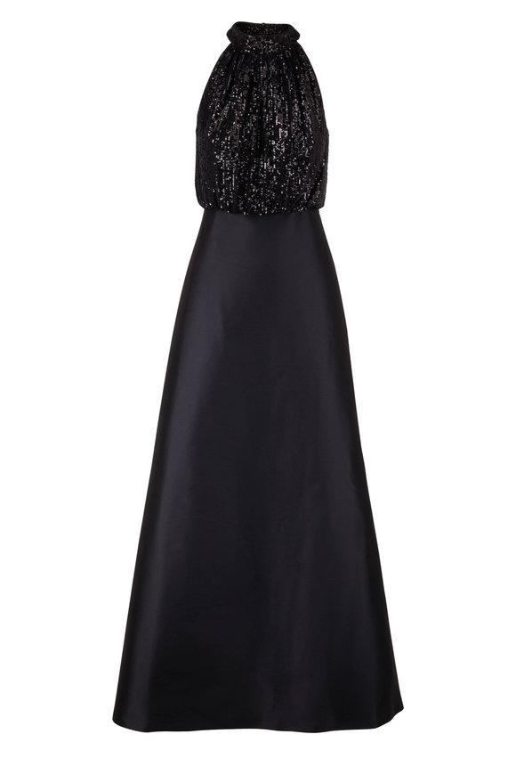 Sachin + Babi Patricia Black Sequins Gown