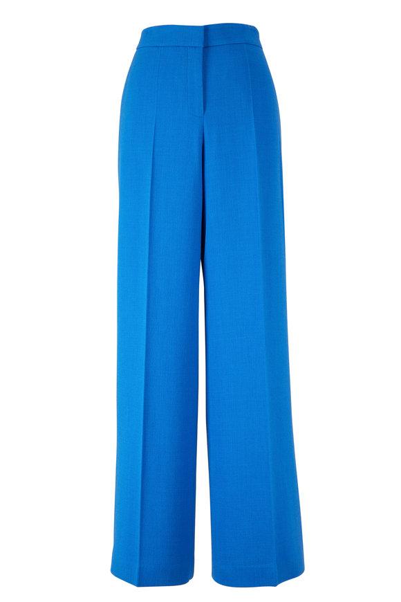 Lafayette 148 New York Dalton Blue Wide Leg Pant