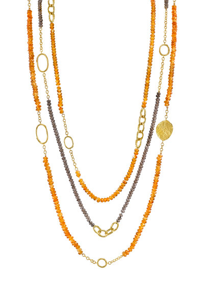 Aaron Henry - Yellow Gold Arbor Link Cable Chain Necklace