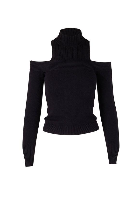 Jonathan Simkhai Gillian Black Cold Shoulder Sweater