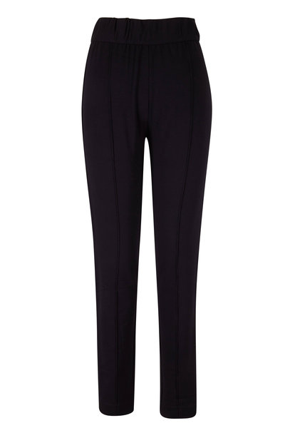 Majestic - Black French Terry Fitted Pant