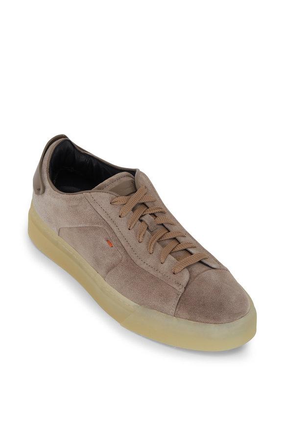 Santoni Despatch Sand Suede Sneaker