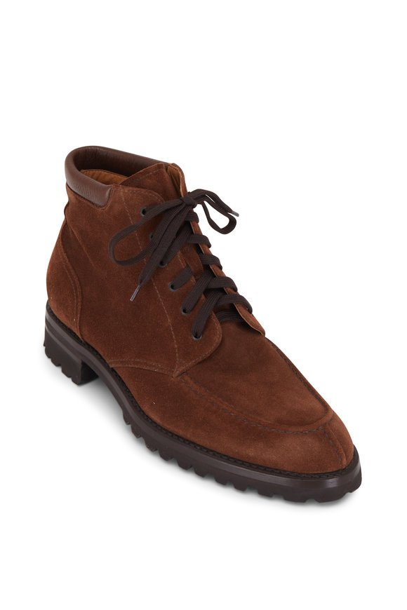 Gravati Polo Brown Suede Lace-Up Boot