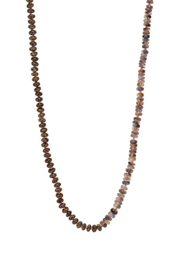 Sylva & Cie Dinosaur Bone Beaded Necklace