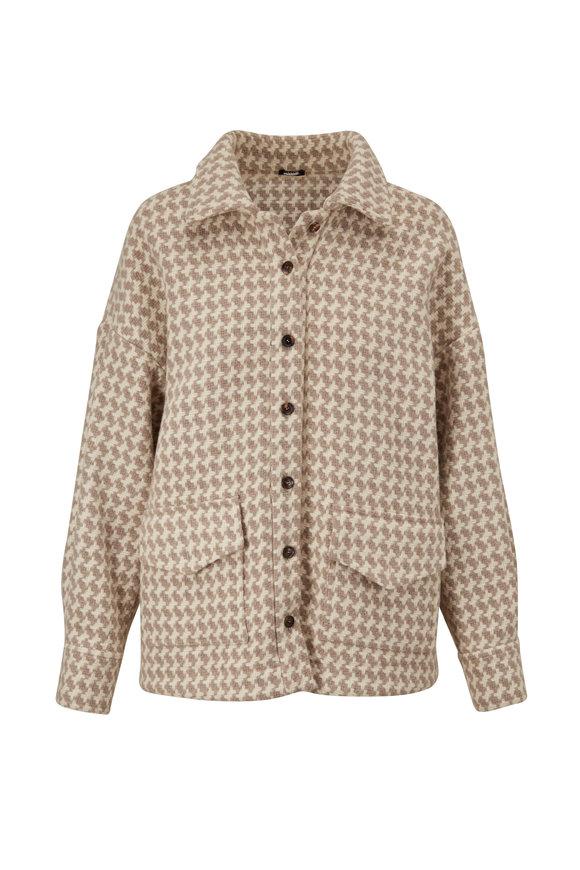 Kiton Natural Wool Herringbone Jacket