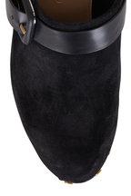 Veronica Beard - Dacey Black Suede Clog, 90mm